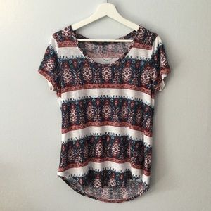 Lucky Brand Bandana Striped Tee